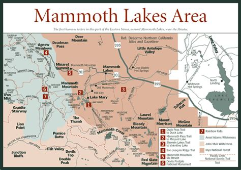 mammoth lake california map plan your escape 174 world travel adventures unhook now