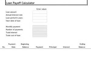 loan payoff excel template loan payoff calculator template sle