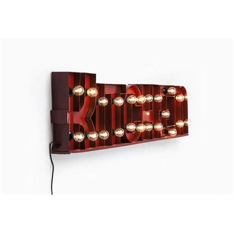kare kitchen illuminated vintage wall light sign