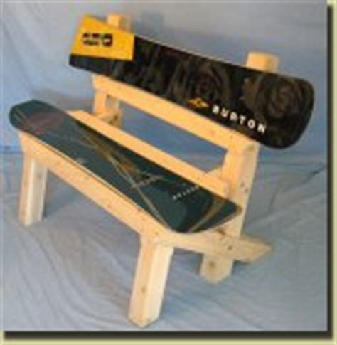 snowboard bench frame recycled ski and snowboard benches for indoor and outdoor use
