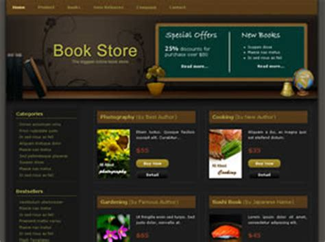 free css templates for books book store free website template free css templates