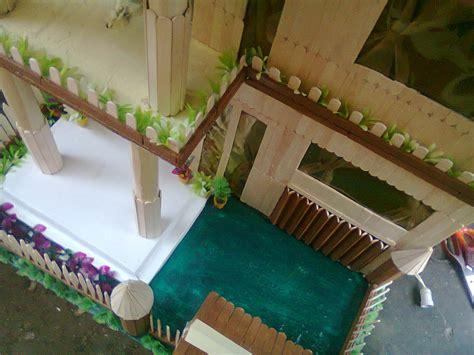 cara membuat rumah adat jambi dari kardus gambar rumah dari stik berwarna rumamu di