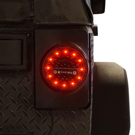 jeep jk tail light round g4 led tail lights for jeep jk 2007 2017 genssi led