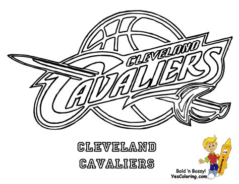 cleveland cavaliers coloring pages coloring pinterest