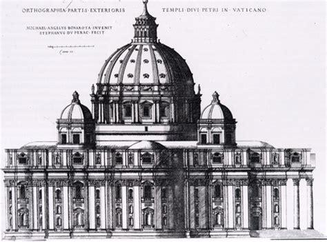 cupola di michelangelo facciata prospetto e cupola di michelangelo della basilica