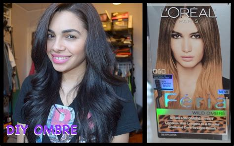 diy ombre a no kit how to for subtle seamless colour diy ombre hair using loreal ombre kit youtube