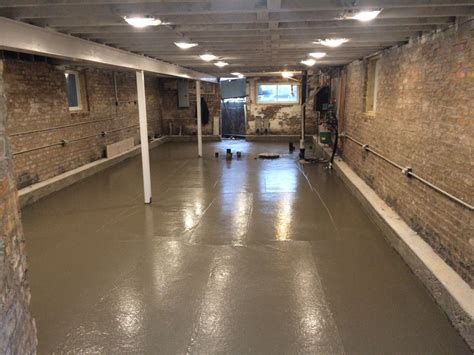 Basement Floor Pour   Two Flat: Remade