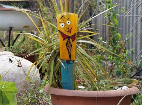 Funky Garden Decor Funky Fused Glass Plant Stakes And Garden Decor Stakes