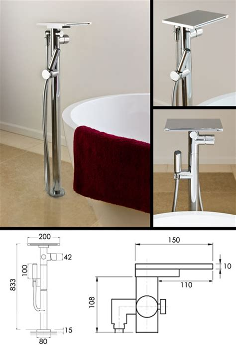 Bath Shower Mixer waterblade freestanding waterfall bath tap amp shower