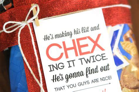 easy neighbor gift idea chex mix cute tag   autumn