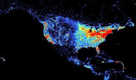 map of population density united states comparing population density and density on gis