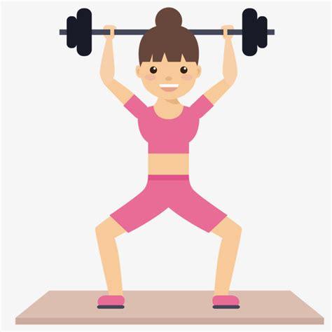 imagenes fitness animadas levantamiento de pesas mujer levantamiento de pesas