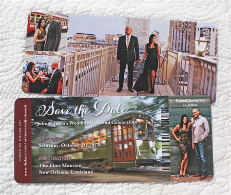 boarding new orleans save the dates archives emdotzee designs