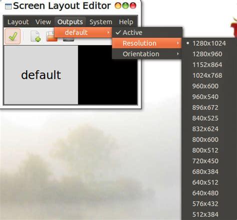 Screen Layout Editor Ubuntu | change screen layout settings in ubuntu using arandr