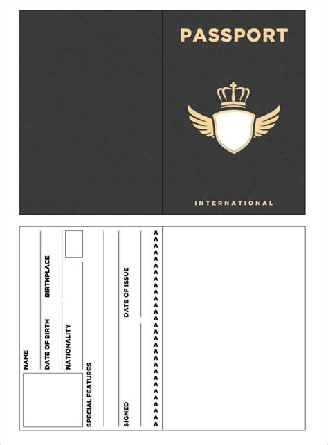 make your own passport template gallery of 29 passport templates for students word excel