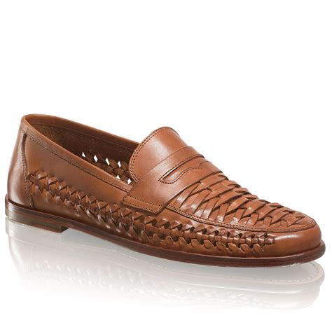 and bromley shoes uppercut woven slip on in leather bromley