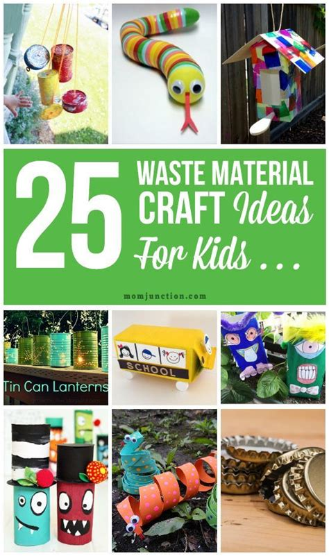 25 creative out of waste material crafts for kids waste