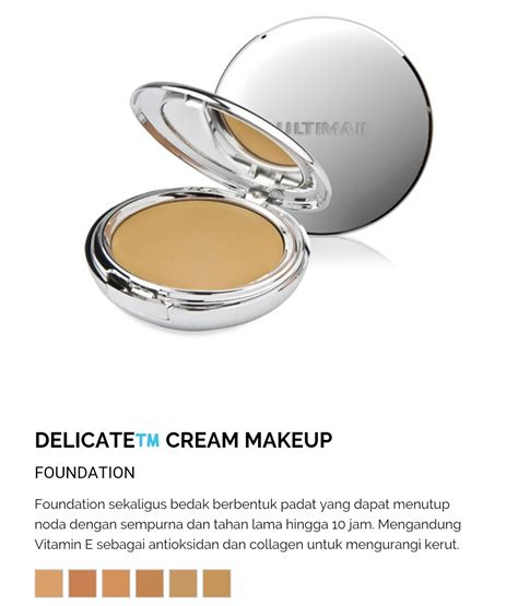 Foundation Ultima Ii Delicate Creme Review Ultima Ii Dynamic Duo Delicate Cr 232 Me Powder Makeup