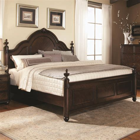 king bed wood coaster 203221ke brown eastern king size wood bed steal