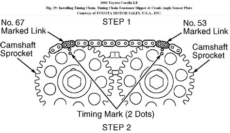 2004 toyota corolla timing chain timing chain diagram how to replace a timing chain