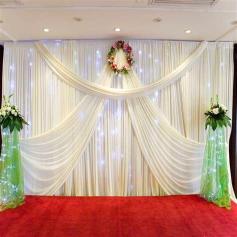 2017 new design mandap 3*6 wedding curtain drapery for