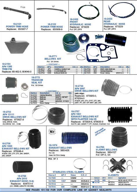 volvo penta bellows kit outdrive parts