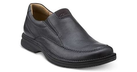 clarks s senner casual slip on shoes in black for