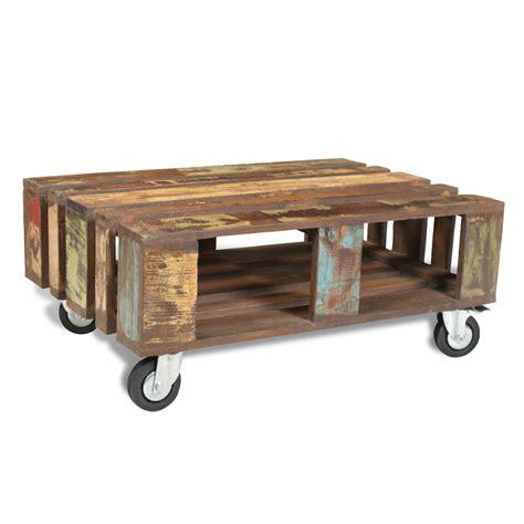 tavolo da caffe articoli per tavolo da caff 232 in legno riciclato stile