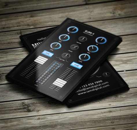 mobile dj business card template amazing dj business cards psd templates design graphic