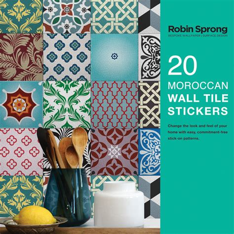 moroccan wall stickers 20 moroccan wall tile stickers robin sprong wallpapers