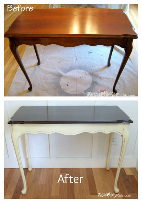 chalk paint stained wood update wood stained furniture easily quickly