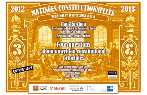 Calendrier U De Montreal Four Questions About Unwritten Constitutional Principles