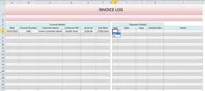 Invoice Log Template   free printable invoice