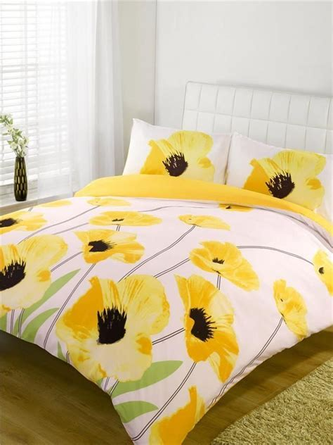 yellow bed set super king size new yellow poppy flowers duvet quilt