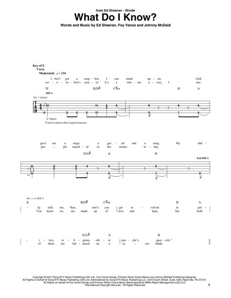 ed sheeran what do i know mp3 what do i know guitar tab by ed sheeran guitar tab 181786