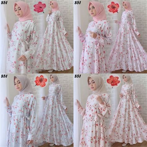 Gamis Dress Maxmara Motif Zeea maxi maxmara motif bunga c851 gamis cantik remaja modern