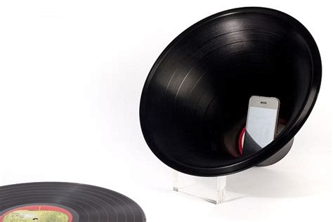 Designer Speakers by Is That Your Vinyl Answer Old Lps Turned Into Iphone