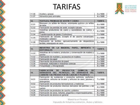 tarifa ica tarifa de ica galapa diapositivas gestion tributaria 1