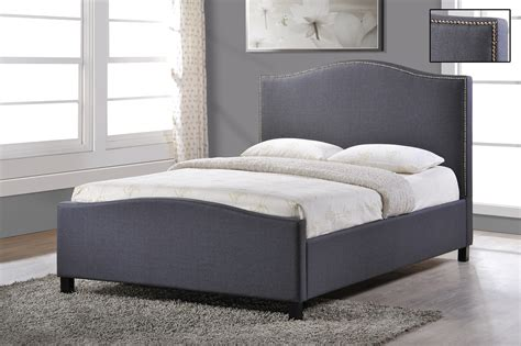 Grey Upholstered Bed Frame Stylish Fabric Upholstered Bed Frame Fabric Bed 4ft6 5ft King Size Ebay