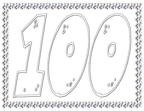free coloring pages of 100 days of school
