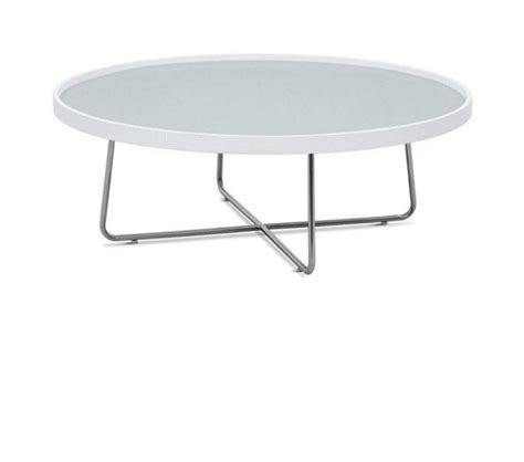 dreamfurniture 213e modern white coffee table
