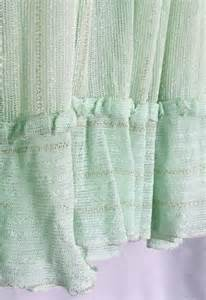 Green And Gold Curtains Sheer Curtains Mint Green Gold Metallic Stripe Ruffle Cafe