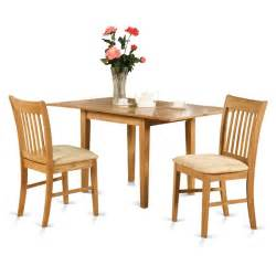 Small Kitchen Sets Furniture Oak Small Kitchen Table And 2 Kitchen Chairs 3 Piece