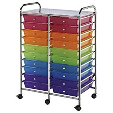 Multi Coloured Plastic Storage Drawers by Alvin Blue Storage Cart With Multi
