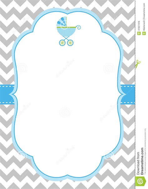 free baby shower gift card templates baby boy invitation card stock vector illustration of