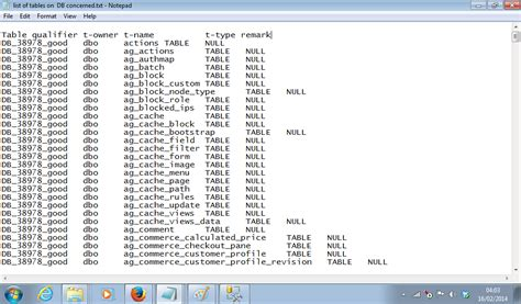 sql list tables in database deleting tables from my database