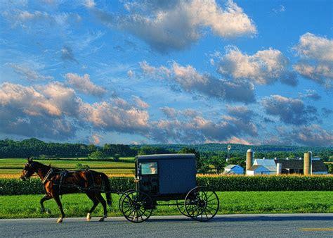 dutch country amish buggy and farm landscape photography pennsylvania dutch