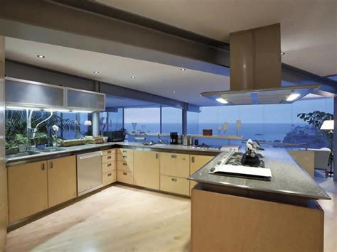 Modern House With Glass Walls by Contemporary Kitchen Modern House Large Glass Wall