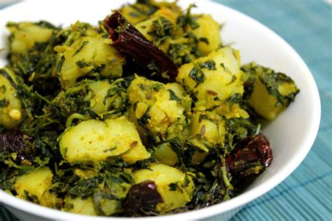 Aloo Methi/Potatoes With Fenugreek Leaves Recipe ? Dishmaps
