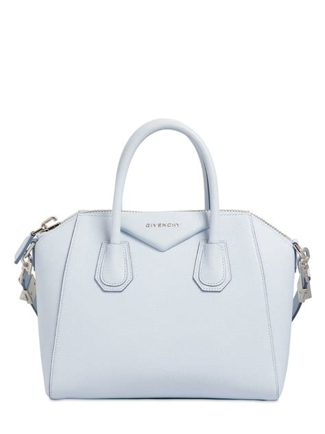 light blue givenchy bag givenchy small antigona grained leather bag in blue lyst